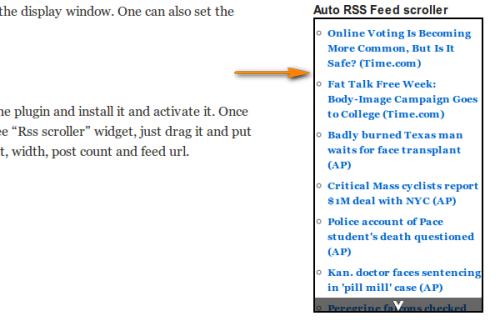 Как вывести в блоге RSS любого сайта | Auto rss feed scroller