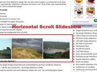Image Horizontal Reel Scroll Slideshow