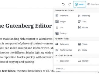 В WordPress под видом плагина доступен для тестирования новый редактор Gutenberg