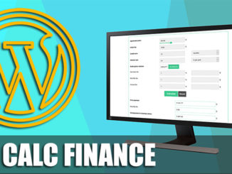 Wp Calc Finance