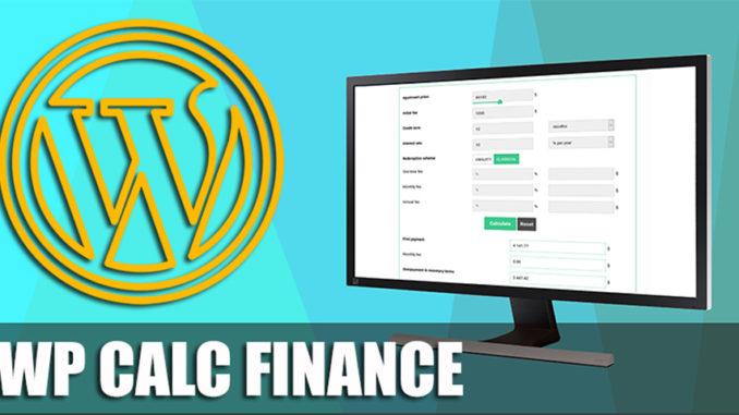 Wp Calc Finance